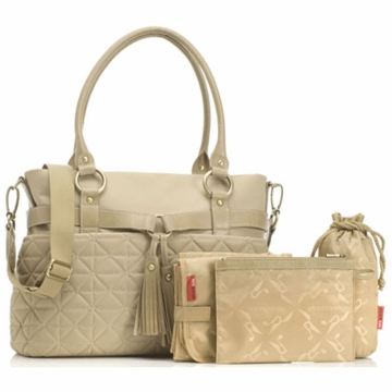 Storksak Isabella Nylon Diaper Bag in Sand