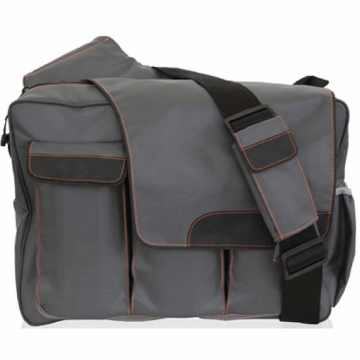 Diaper Dude Messenger II Diaper Bag - Grey