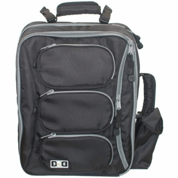 Diaper Dude Convertible Messenger/Backpack - Black