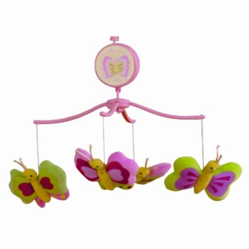 Bedtime Originals Pink Butterfly Musical Mobile