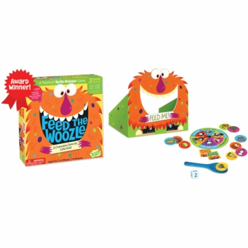 Peaceable Kingdom Feed The Woozle Cooperative Preschool Skill-Builder Game