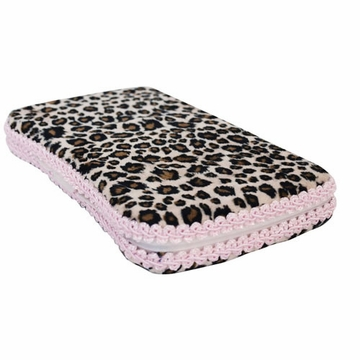 Tickle Toes Cheetah Minky Hard Wipes Case