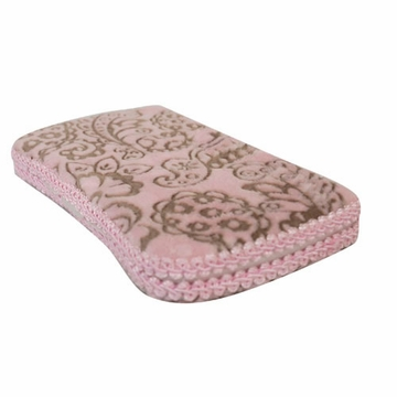 Tickle Toes Embossed Pink Paisely Hard Wipes Case