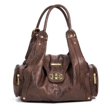 Timi & Leslie Annette Designer Diaper Bag in Cocoa Brown