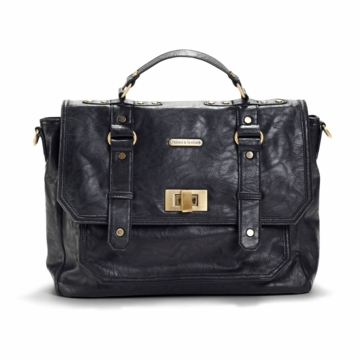 Timi & Leslie Casey Designer Diaper Bag in Black