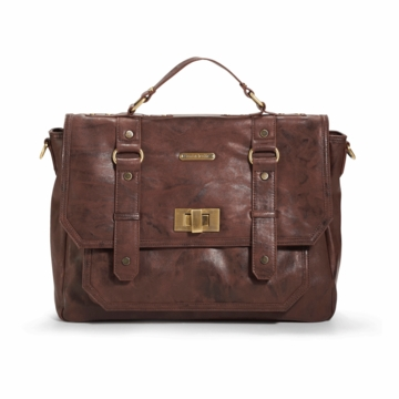 Timi & Leslie Casey Designer Diaper Bag in Cocoa Brown