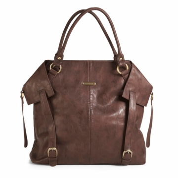 Timi & Leslie Charlie Designer Diaper Bag in Cocoa Brown