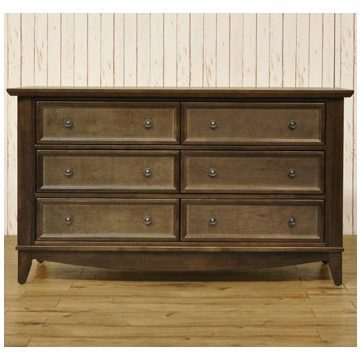 Franklin & Ben  Arlington Double Wide Dresser - Rustic Brown