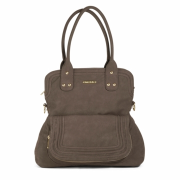 Timi & Leslie Hayley Designer Diaper Bag in Mushroom Brown