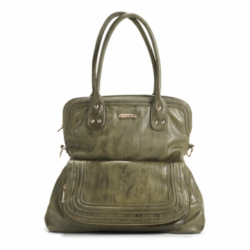 Timi & Leslie Hayley Designer Diaper Bag in Olive