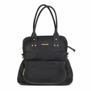 Timi & Leslie Hayley Designer Diaper Bag in Velvet Black