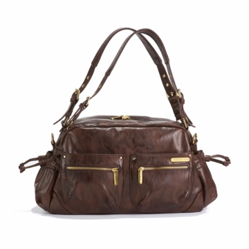 Timi & Leslie Jessica Designer Diaper Bag in Cocoa Brown