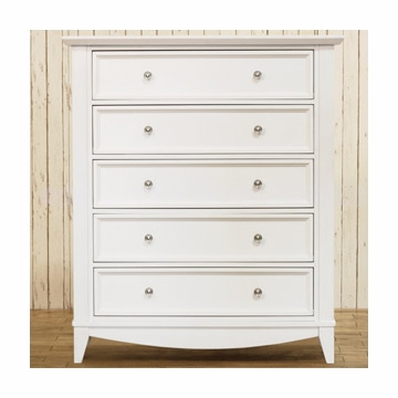 Franklin & Ben  Arlington Tall Dresser - White