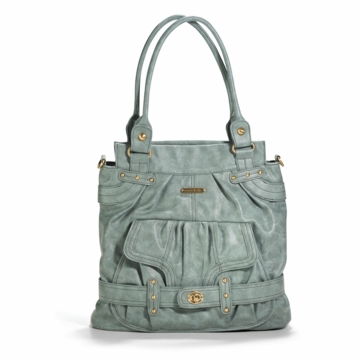 Timi & Leslie Louise Designer Diaper Bag in Cloud Blue