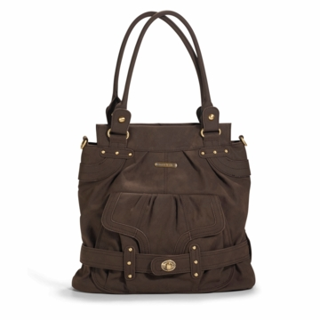 Timi & Leslie Louise Designer Diaper Bag in Mushroom Brown