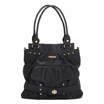 Timi & Leslie Louise Designer Diaper Bag in Velvet Black