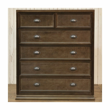 Franklin & Ben Mason Tall Dresser - Rustic Brown