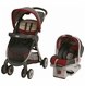 Graco FastAction Fold Click Connect Travel System - Finley