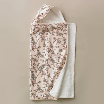 DwellStudio Vintage Blossom Blush Hooded Towel