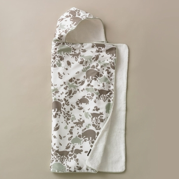 DwellStudio Woodland Tumble Mocha Hooded Towel