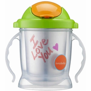 Innobaby Sippin' Smart EZ Flow Straw Stainless Sippy - Green
