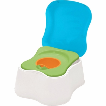 Safety 1st 1-2-3 Teach Me Potty Trainer &  Step Stool - Brights
