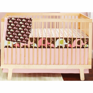 Skip Hop Pink Elephant 4 Piece Crib Bedding Set