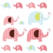 Skip Hop Pink Elephant Wall Decals