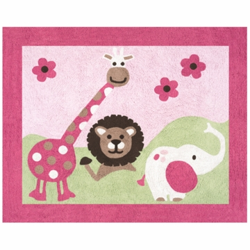 Sweet JoJo Designs Jungle Friends Rug