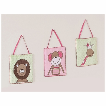 Sweet JoJo Designs Jungle Friends Wall Hangings