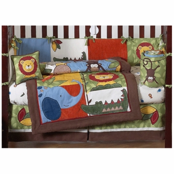 Sweet JoJo Designs Jungle Time 9 Piece Crib Bedding Set
