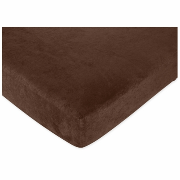Sweet JoJo Designs Jungle Time Crib Sheet in Brown Microsuede