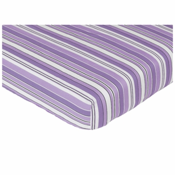 Sweet JoJo Designs Kaylee Crib Sheet in Stripe Print