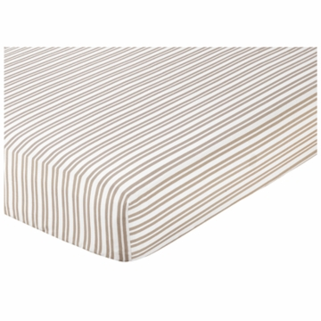 Sweet JoJo Designs Lamb Crib Sheet in Stripe