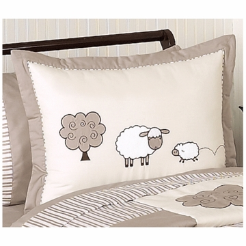 Sweet JoJo Designs Lamb Pillow Sham