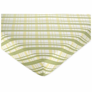 Sweet JoJo Designs Leap Frog Crib Sheet in Plaid Print