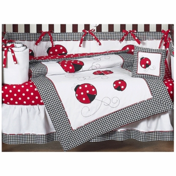 Sweet JoJo Designs Little Ladybug 9 Piece Crib Bedding Set