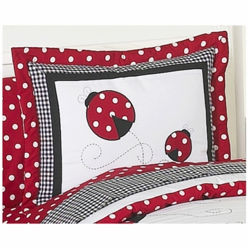 Sweet JoJo Designs Little Ladybug Pillow Sham