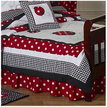 Sweet JoJo Designs Little Ladybug Toddler Bed Skirt