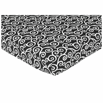 Sweet JoJo Designs Madison Crib Sheet in Scroll Print
