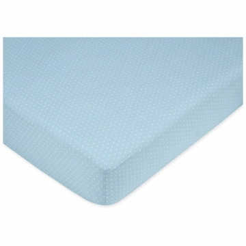 Sweet JoJo Designs Mod Dots Blue Crib Sheet in Mini Dot Print