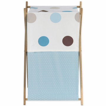Sweet JoJo Designs Mod Dots Blue Hamper