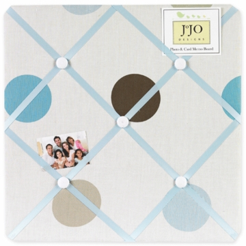 Sweet JoJo Designs Mod Dots Blue Fabric Memo Board