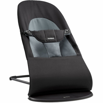 BabyBjorn Bouncer Balance Soft, Cotton - Black/Dark Gray