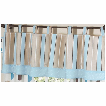 Sweet JoJo Designs Mod Dots Blue Window Valance