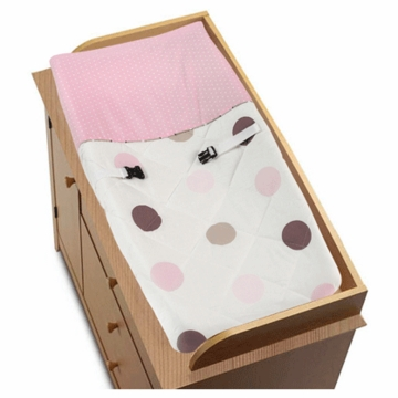 Sweet JoJo Designs Mod Dots Pink Changing Pad Cover