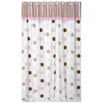 Sweet JoJo Designs Mod Dots Pink Shower Curtain