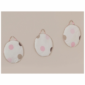 Sweet JoJo Designs Mod Dots Pink Wall Hangings