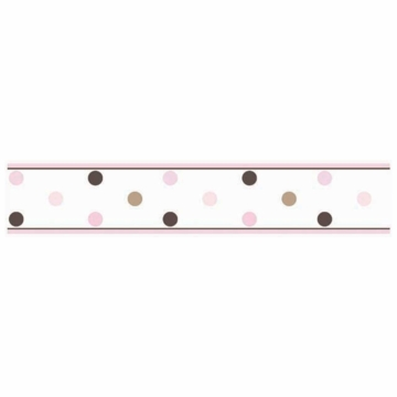 Sweet JoJo Designs Mod Dots Pink Wallpaper Border