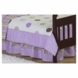 Sweet JoJo Designs Mod Dots Purple Toddler Bed Skirt